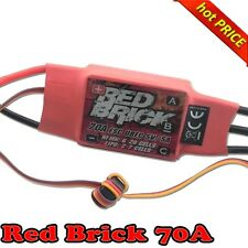 Red Brick 70A 2-7S Brushless ESC & 5V UBEC for Helicopter Airplane Quadcopter F