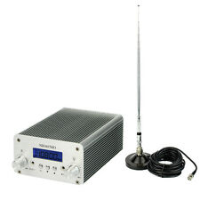 5W/15W PLL FM Transmitter Radio Stereo Station Wireless Broadcast + Power 3-4 km
