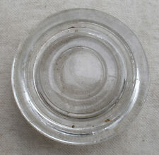 Vintage Clear Glass Furniture Coaster,1950s,Hazel Atlas,round -glassware,home