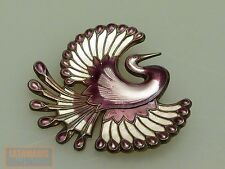 DAVID ANDERSEN NORWEGEN SILBER 925 BROSCHE PARADIESVOGEL BROOCH BIRD OF PARADISE