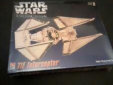 Star Wars Tie Interceptor Limited Edition AMT Ertl Model Kit In Gold Tone Finish