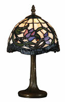 TIFFANY STYLE UNIQUE STAINED GLASS DESK TABLE LAMP - 14.17'' WIDE-