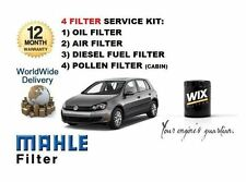 FOR VW GOLF 1.6DT TDi MK6 2009-  SERVICE KIT OIL AIR FUEL POLLEN FILTER SET