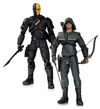 "Dc collectibles arrow oliver queen et deathstroke 7"" action figures 2-pack"