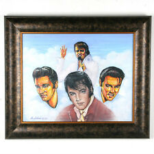 Untitled (5 Images of Elvis Presley) By Anthony Sidoni 2005 Signed Oil Painting