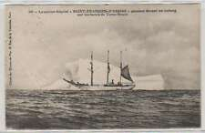 "B4852: 1924 France ""St Francois D' Assise"" Polar Ship Postcard"