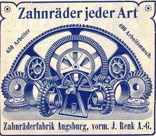 Letzten Zahnräderfabrik Renk Augsburg 1979 DM Aktie Bayern MAN Rheine Hannover