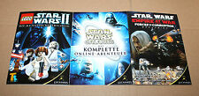 2006 Games Convention Lego Star Wars 2 / Galaxies / Empire at war Postcard Set