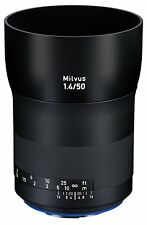 New Carl ZEISS Milvus 50mm f1.4 ZE Lens for Canon EF DSLRs COSINA Made in Japan