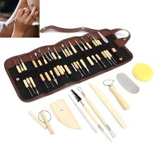 DIY 30Pcs/Set Pottery Clay Sculpture Carving Modelling Ceramic Tools Kit Craft
