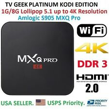 Android 5.1 SMART TV BOX-MXQ PRO 4K (S905) JAILBROKEN, FULLY FULLY LOADED!!!!