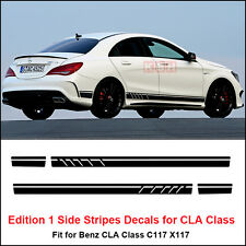 Edition 1 Style Stripes Sticker for Mercedes Benz W117 C117 X117 CLA AMG Black