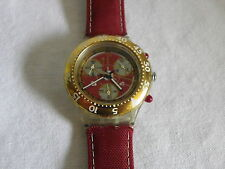 Swatch Aquachrono Red Sun SEK105 Herren Damen Uhr