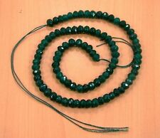 6MM FACETED GREEN EMERALD ROUND SHAPE LOOSE BEADS SEMI PRECIOUS GEMSTONE(19g)