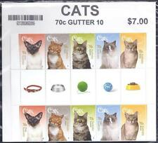 AUSTRALIA, 2105  CATS, MNH GUTTER PAIRS, IN POST OFFICE PLASTIC BAG