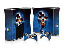 E12 Fashion Skull Body Decal Skin Sticker For X box 360 Slim Console+Controllers