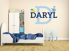 "Dinosaur Name Monogram Wall Decal #9 Nursery Room Kids Vinyl Wall 18"" Tall"