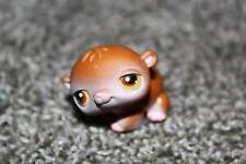 Littlest Pet Shop Hamster #34 Brown White Yellow Eyes LPS Toy RARE VHTF Animal