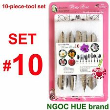 10 pieces high tech set# 10 stainless - 3D Gelatin Art Tools cake birthday party