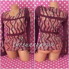 VELVET BY GRAHAM & SPENCER the tye batik long sleeve t shirt top boho blouse S