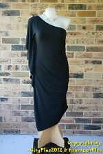 City Chic Dress - Size XL (22) - BLACK DRAMA DRESS - New with tags