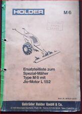Holder Balkenmäher M 6 Ersatzteilliste