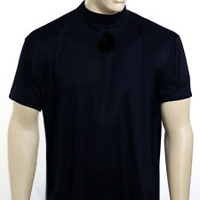 McDavid MD 907 T Men's Short Sleeve Mock Neck Referee Cut T-Shirt Navy Large
