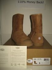 NEW UGG Australia Youth US 5 Women 7 Kids Classic Short Delaine Chestnut Boots
