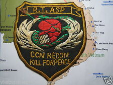 PATCH - SPECIAL FORCES PATCH  MACV  RECON TEAM ASP, Kill For Peace  Vietnam War