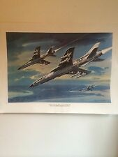 "United States Air Force F-105 Thunderchief 11"" X 14 1/2"" Color Print"