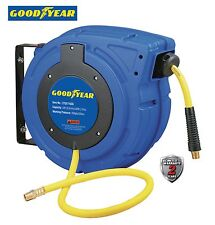 "NEW GOODYEAR Enclosed Retractable Air Compressor/Water Hose Reel, 3/8"" 50 ft."
