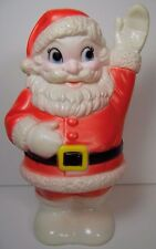 WORKS VINTAGE 1960s SANTA CLAUS CHRISTMAS DOG SQUEAK SQUEAKY TOY SANITOY NY USA