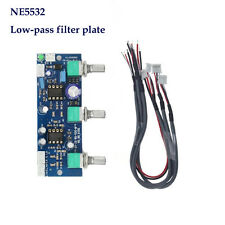 NE5532 Subwoofer Low-pass Filter 2.1CH Pre-Amplifier Board & Cables DC 12V-24V