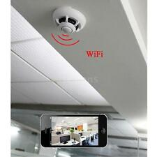 Wifi P2P Smoke Detector Wireless IP Camera Digital Video Recorder Smartphone