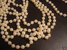 IVORY 18 FT 8MM Wedding Pearl Bead Garland Rope Craft Reception Decoration