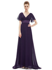 US Women's Long Prom Bridesmaid Evening Party Gown Formal Maxi Dresses 09890