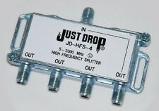 Just Drop JD-HFS-4 5-2300MHz 4 Way Splitter DISH NETWORK APPROVED HOPPER & JOEY
