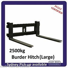 BURDER STYLE QUICK HITCH PALLET FORKS FOR LARGE HITCH 2500kg Fully Certified