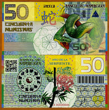 Kamberra, Kingdom, 50 Numismas, China Lunar Year 2013, UNC   Snake