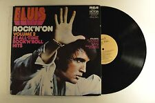 elvis presley 2lp rock n on  tsp-141  aussie import   vg+/m-