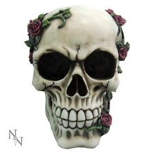 Nemesis Now classic skull figurine Rose From Beyond