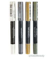 4 COVERGIRL FLAMED OUT EYE SHADOW PENCIL-Silver,Gold,Crystal,Ashen Glow