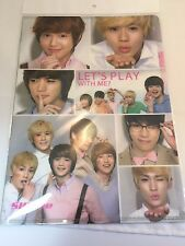 SHINee LET`S PLAY WITH ME Official Promo A4 size Folder Clear File Very Rare NEW