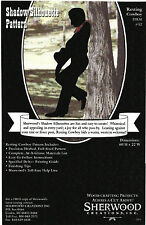 Resting Cowboy Shadow Silhouette Woodworking Pattern by Sherwood Creations