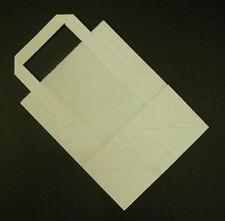 """25 LARGE WHITE KRAFT PAPER CARRIER SOS BAGS 10x5.5x12.5"""" -"""