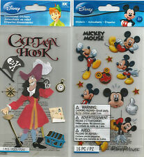 Disney Mickey Mouse Captain Hook Scrapbook Stickers