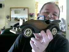 VINTAGE CAR WOODEN MANTLEPIECE ORNAMENT GREAT XMAS GIFT! CHARITY