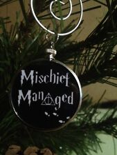 Harry Potter doublesided Ornament Mischief Managed with Deathly Hallows Black 2B