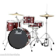 Pearl Roadshow RS584 4-Piece Complete Drum Set w/ Hardware & Cymbals Wine Red
