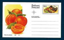 SOUTH AFRICA - SUD AFRICA - RSA - 1982 - Cart. Post. - Frutta locale: Albicocche